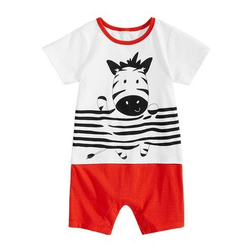 First Impressions Baby Girls' Yay Zebra Sunsuit