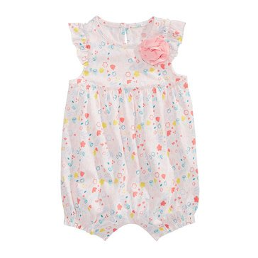 First Impressions Baby Girls' Botanical Flower Sunsuit