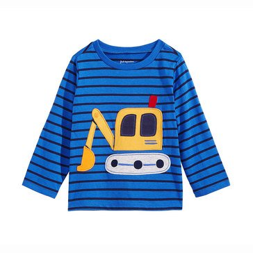 First Impressions Baby Boys' Long Sleeve Digger Tee