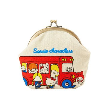 Hello Kitty Vintage Canvas Kiss Lock Pouch