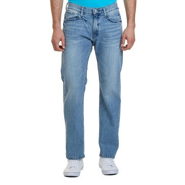 Nautica Men's Denim Stretch Relaxed Fit Light Wash Jeans