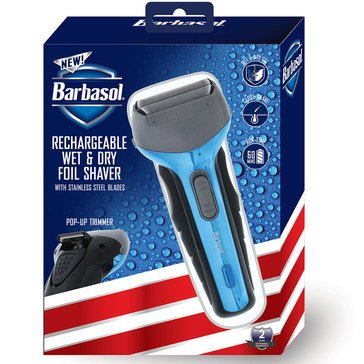 Barbasol Mens Rechargeable Wet And Dry Foil Shaver
