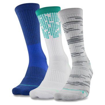 Under Armour Men's Phenom 4.0 3-Pack Crew Socks