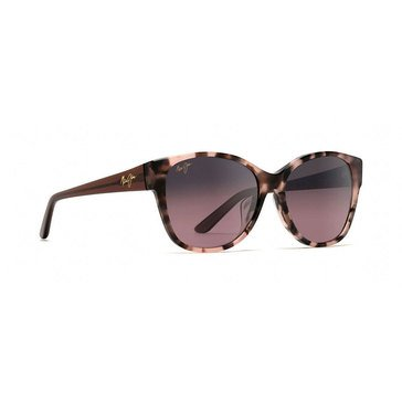 Maui Jim Women's Summer Time Pink Tokyo Tortoise Polarized Cat Eye Sunglasses