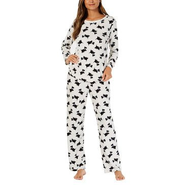Charter Club Women's Scottie Thermal Fleece Pjs extended sizes