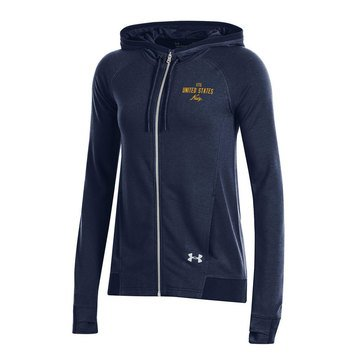 Under Armour Women's USN Tech Terry Full Zip Pullover