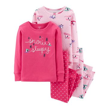 Carter's Baby Girls' 4-Piece Penguin Cotton Pajamas