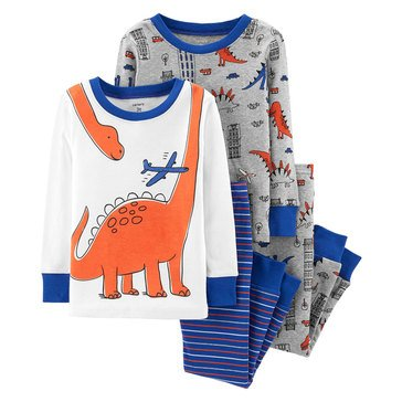 Carter's Baby Boys' 4-Piece Dinosaur Cotton Pajamas