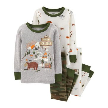 Carter's Baby Boys' 4-Piece Woodland Camo Cotton Pajamas