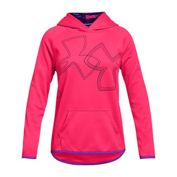 Under Armour Big Girls' Dual Logo Hoodie