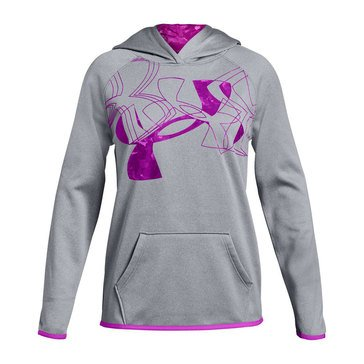 Under Armour Big Girls' Printed Fill Logo Hoodie