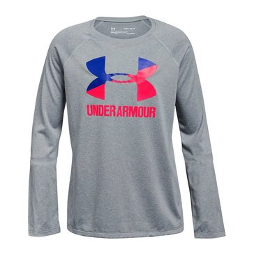 Under Armour Big Girls' Long Sleeve Logo Tee