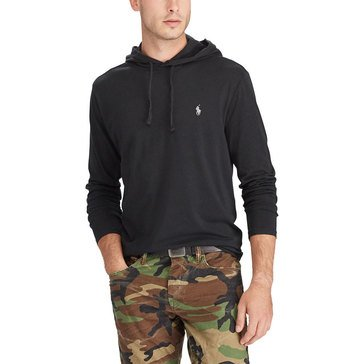 Polo Ralph Lauren Mens Long Sleeve Hooded Tshirt Solid Black