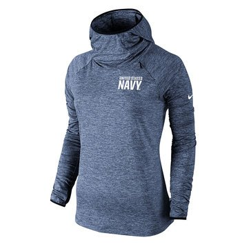 Nike Women's USN Left Chest Heathered Element Hoodie