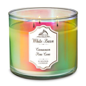 Bath & Body Works Iridescent 3-Wick Candle - Cinnamon Pinecone