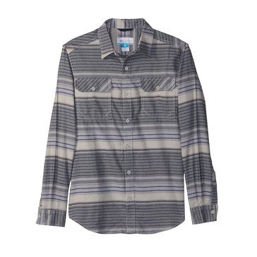 Columbia Men's Long Sleeve Striped Flannel Shirt