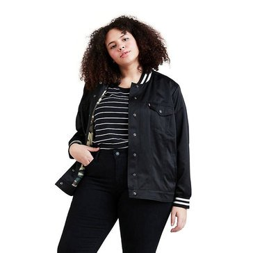 Levi Womens Long Sleeve Sherpa Trucker Jacket