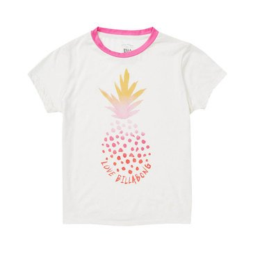Billabong Big Girls' Rainbow Pineapple Ringer Tee
