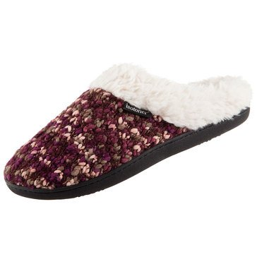 Totes Women's Chunky Sweater Knit Amanda Hoodback Slippers