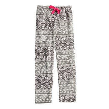 Totally Pink Women's Rolled Plush Sleep Pants