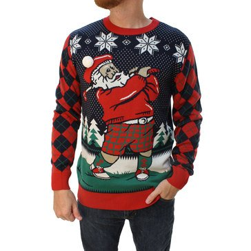 Michael Gerald Men's Santa Golfing Ugly Christmas Sweater