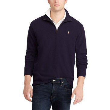 Polo Ralph Lauren Mens Estate Rib Knit Long Sleeve Half Zip Red