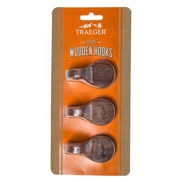 Traeger Grill Hopper Magnetic Wooden Hooks, Set Of 3