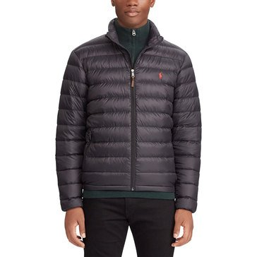 Polo Ralph Lauren Mens Outerwear Down Fill Lightweight Nylon Bleeker Jacket Navy