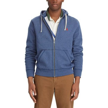 Polo Ralph Lauren Mens Athletic Fleece Long Sleeve Fullzip Hoodie Rustic Navy Heather