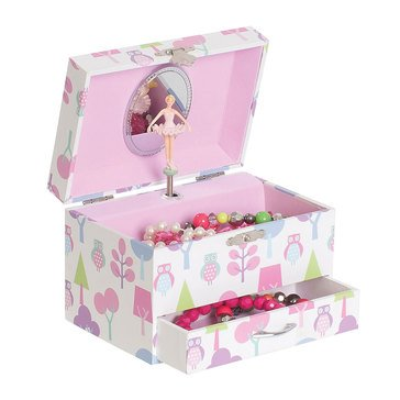 Mele & Co Molly Girls Musical Ballerina Jewelry Box With Owl Pattern