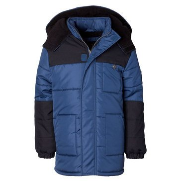 Big Boys' Colorblock Heavy Puffer Jacket