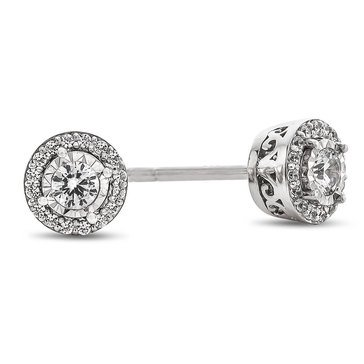 1/4 ct.tw. Diamond Miracle Plated Stud Earrings, Sterling Silver