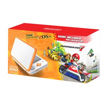 2DS XL Hardware w Mario Kart 7, Orange/ White