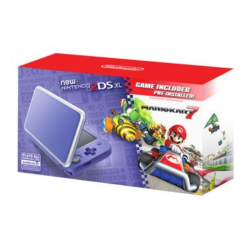 2DS XL Hardware w Mario Kart 7, Purple/ Silver