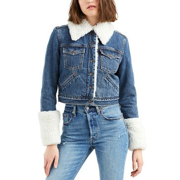 Levi's Women's Styled Sherpa Trucker Denim Jacket