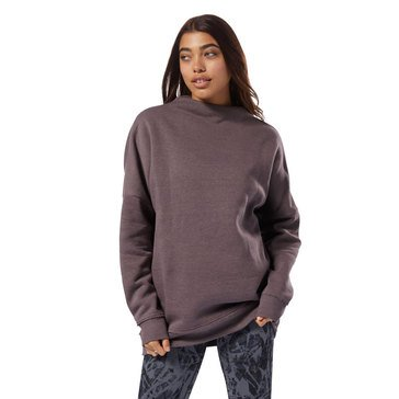 Reebok Women's El Marble Oversized Crew Top extended sizes