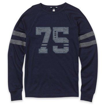 The Game Men's Striped Crew 75 USN Laser Appliqued Jersey