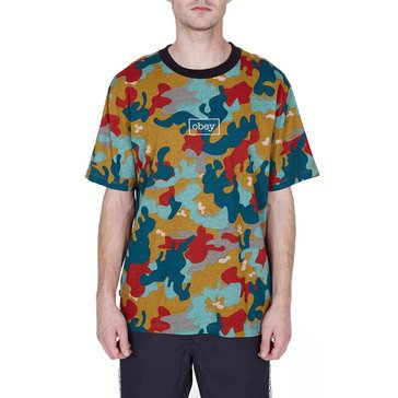 Obey Men's Clothing Flight ClaShort Sleeveic Short Sleeve Crew Neck Tee
