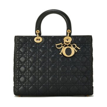 Dior Lamb Lady Dior Large Black