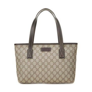 Gucci Coated Canvas GG Plus Tote Brown