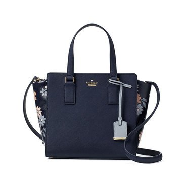 Kate Spade Cameron Street Floral Small Hayden Satchel Navy