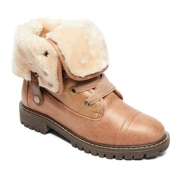 Roxy Little Girls' Bruna  Faux Lined Fold Down Boot