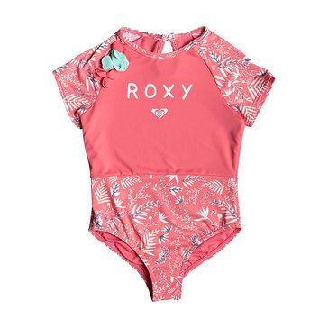 Roxy Little Girls' Bali Dance Cap Sleeves Onesie