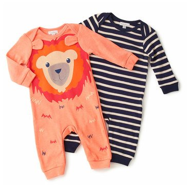 Quiltex Baby Boys' 2-Pack Baby Lion Coverall