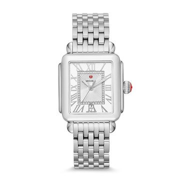 Michele Women's Deco Madison Stainless Diamond Watch, 33mm