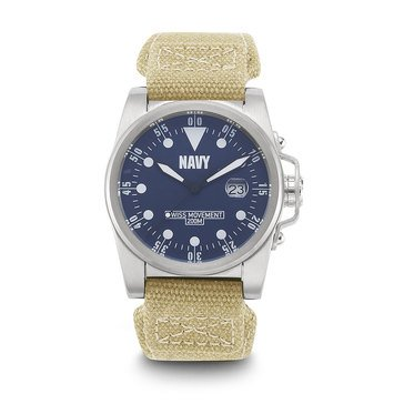 Moret USN Wrist Armor Stainless Steel Watch