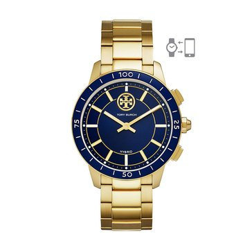 Tory Burch Women's Hybrid Smartwatch - Collins Navy Blue & Gold, 38mm