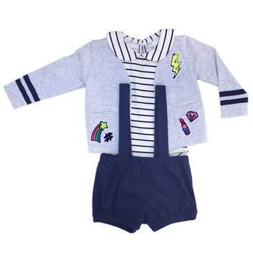 Rosie Pope Baby Girls' 3-Piece Suspender Set