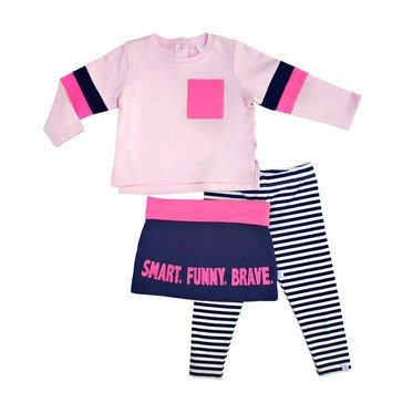 Rosie Pope Baby Girls' 3-Piece Smart Funny Brave Set