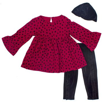 Rosie Pope Baby Girls' 3-Piece Animal Print Set